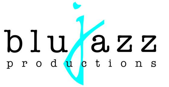Blujazz White and Blue Logo