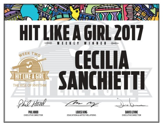 Hit like a girl contest – Cecilia Sanchietti